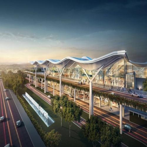 Thi công kết cấu thép Sân bay Cam Ranh mở rộng